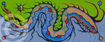 Great Horned Snake • Mishi-ginebig